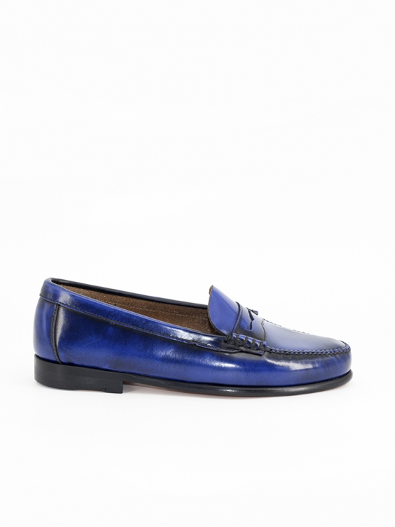 2200p moccasins in blue antik leather