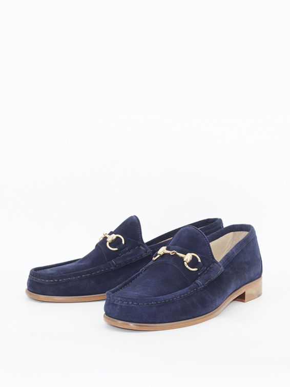 Loafers 33 suede navy blue