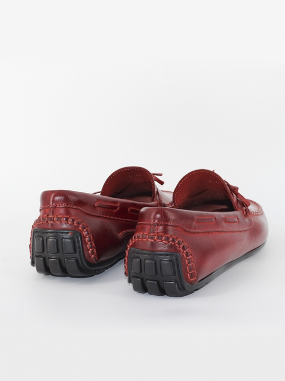 Loafers model 6 bow red color