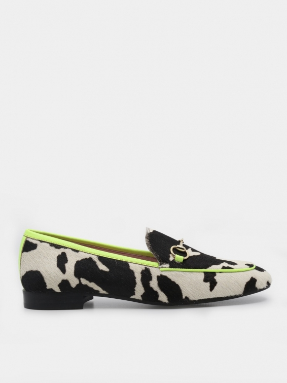 Loafers Genoa lime color vellum hair