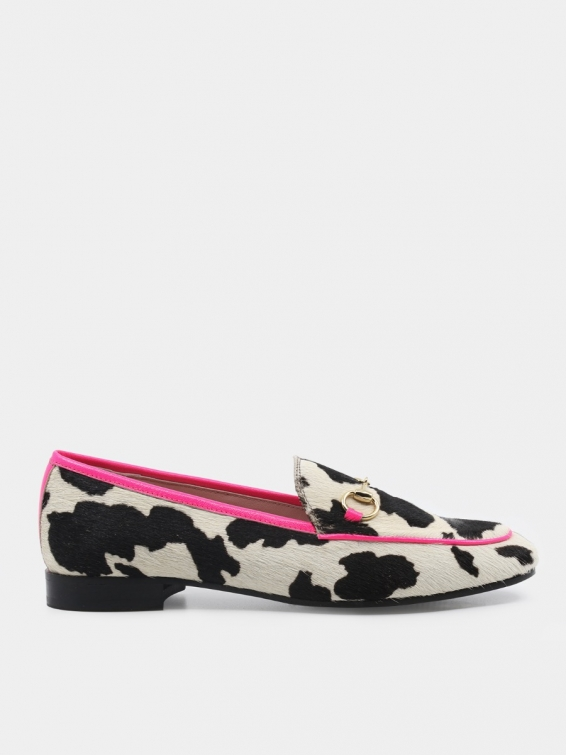 Loafers Genoa pink color vellum hair
