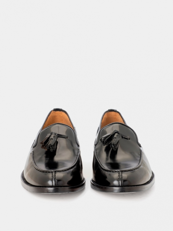 Loafers 3511f black color calf leather