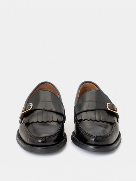 Loafers 7832 black calf leather