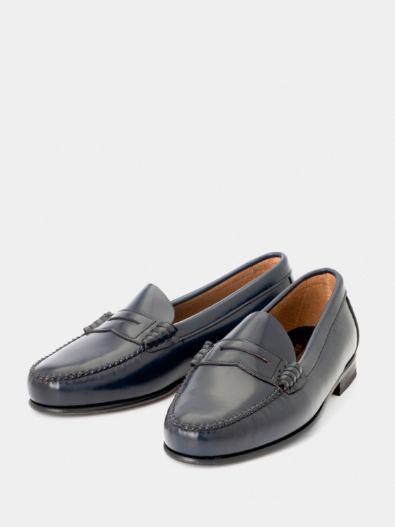 Loafers 2200p navy color antik leather