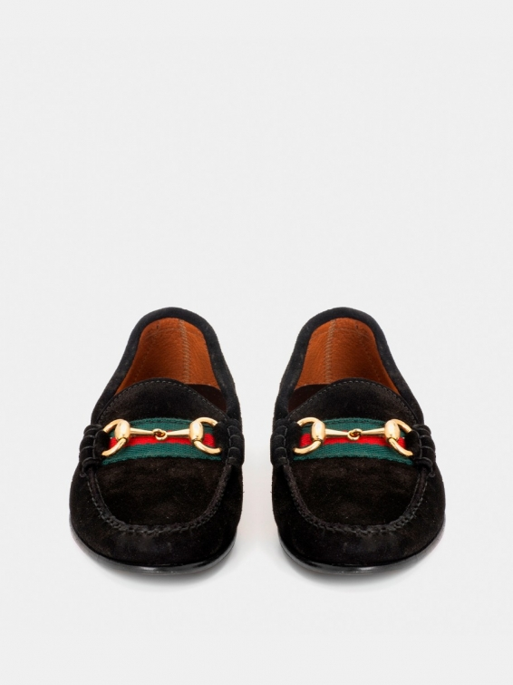 Loafers 2257P-O black suede