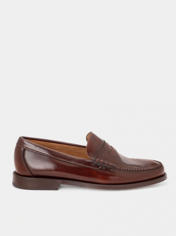 Loafers 800 brown color antik leather