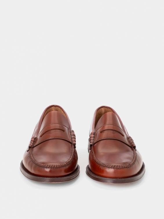 Loafers 800 red brown color antik