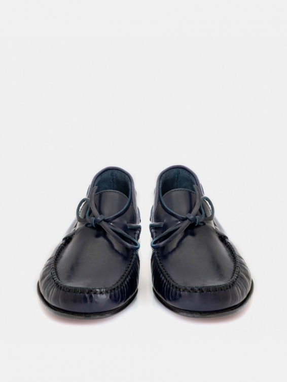 Loafers Alonso with buffed navy bow