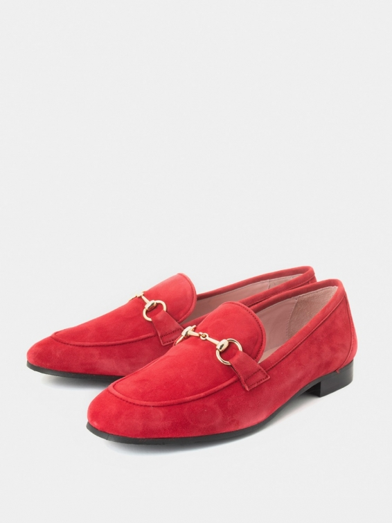 Loafers Napoli red color suede