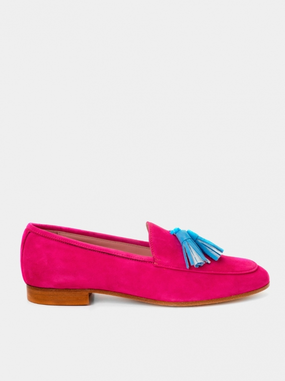 Loafers Genova red suede