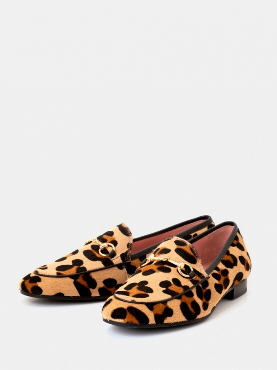 Loafers Genoa yellow leopard color