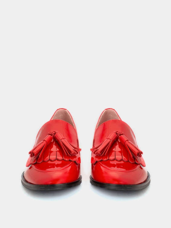 Loafers Messina BF red color patent leather