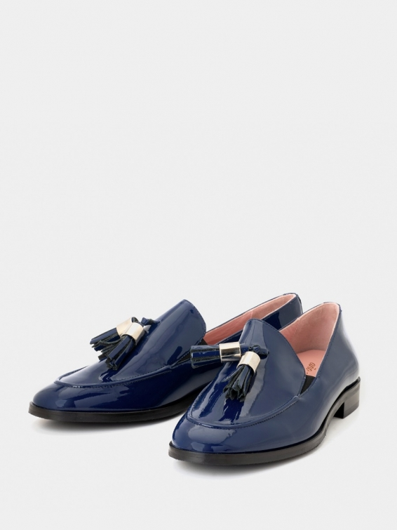 Loafers Messina B navy color patent leather
