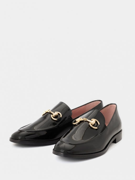 Loafers Messina black color patent leather
