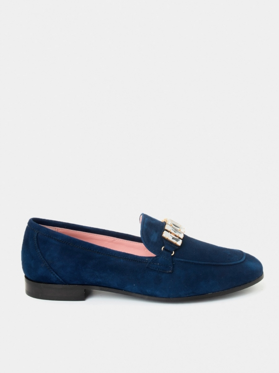 Loafers Sori navy blue suede
