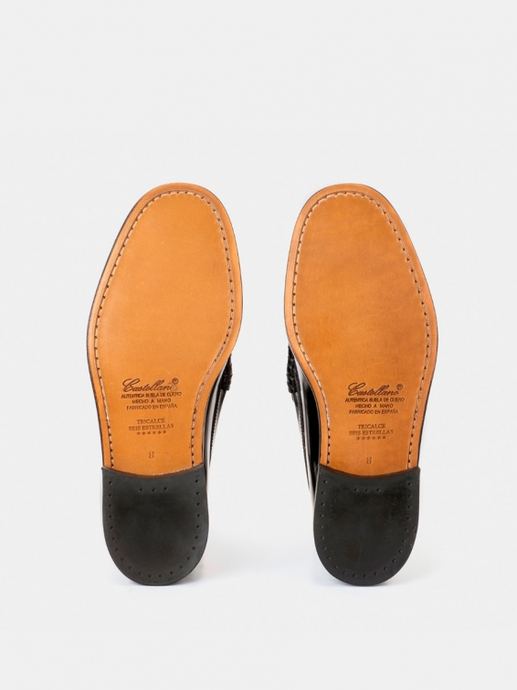 Loafers Tricalce black color antik