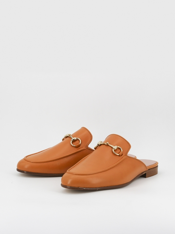 Venice mules light brown leather